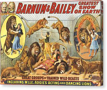 Barnum & Bailey�s  1915 1910s Usa Canvas Print by The Advertising Archives