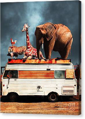 Barnum And Bailey Goes On A Road Trip 5d22705 Vertical Canvas Print by Wingsdomain Art and Photography