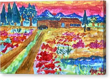 Barnyard-escape Canvas Print by Ayyappa Das