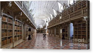 Baroque Library  Canvas Print by Jose Elias - Sofia Pereira