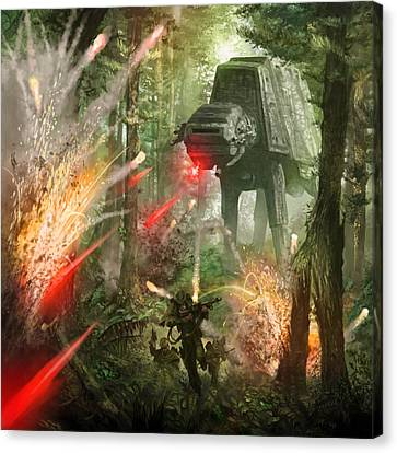 Barrage Attack Canvas Print by Ryan Barger
