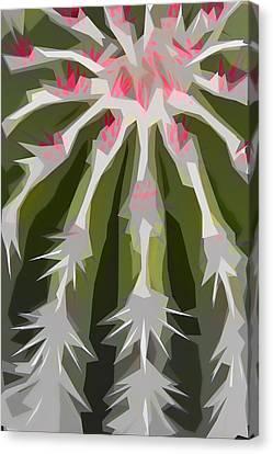 Barrel Cactus Collage Canvas Print by Carol Leigh