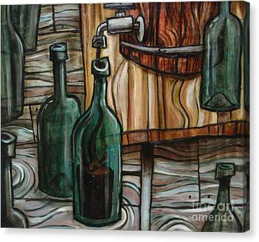 Barrel To Bottle Canvas Print by Sean Hagan