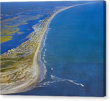 Barrier Island Aerial Canvas Print by Betsy C Knapp