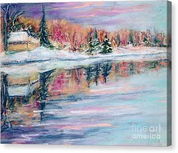 Barrie's Pond Canvas Print by Lorrie Sniderman