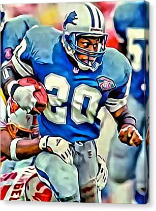 Barry Sanders Canvas Print by Florian Rodarte