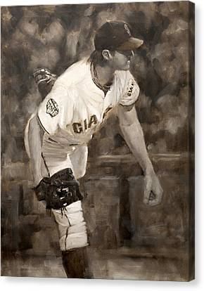 Barry Zito - Redemption Canvas Print by Darren Kerr