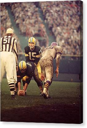 Bart Starr Looks Calm Canvas Print by Retro Images Archive
