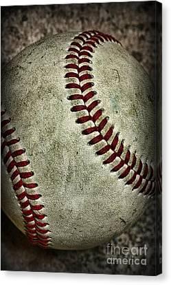Baseball - A Retired Ball Canvas Print by Paul Ward