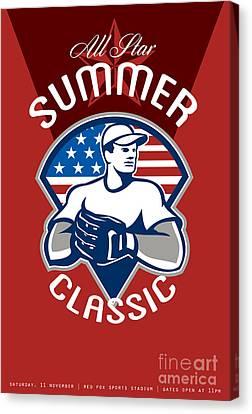 Baseball All Star Summer Classic Poster Canvas Print by Aloysius Patrimonio