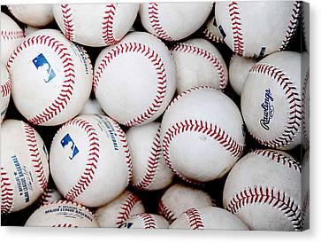 Baseball Color Canvas Print by Joe Hamilton