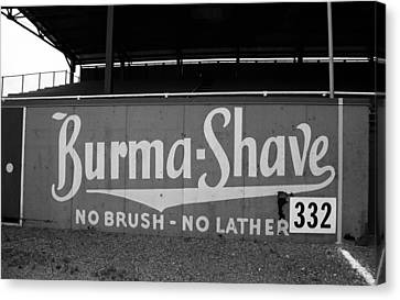 Baseball Field - Burma Shave Canvas Print by Frank Romeo