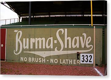 Baseball Field Burma Shave Sign Canvas Print by Frank Romeo
