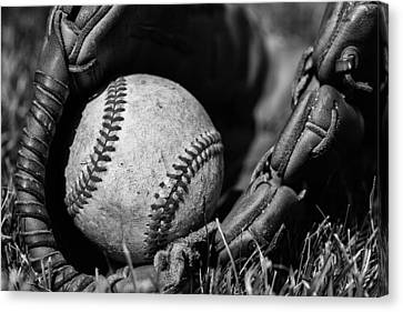 Baseball Gear Canvas Print by Karol Livote