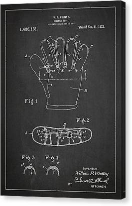 Baseball Glove Patent Drawing From 1922 Canvas Print by Aged Pixel