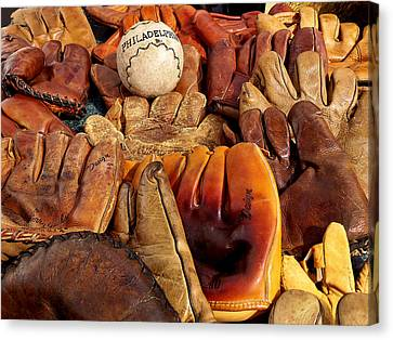 Baseball Of Old Canvas Print by Art Block Collections