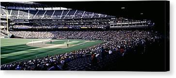Baseball Players Playing Baseball Canvas Print by Panoramic Images