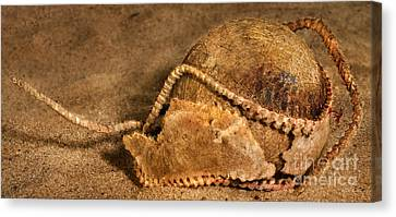 Baseball Ribbed After Game Canvas Print by Iris Richardson
