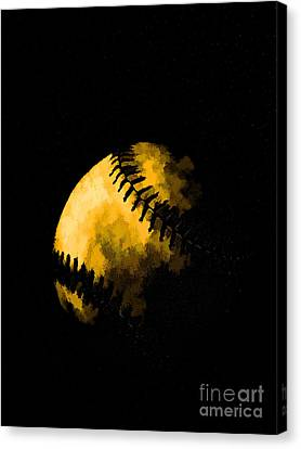 Baseball The American Pastime Canvas Print by Edward Fielding