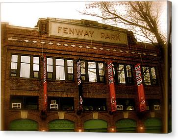 Baseballs Classic  V Bostons Fenway Park Canvas Print by Iconic Images Art Gallery David Pucciarelli