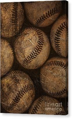 Baseballs Canvas Print by Diane Diederich