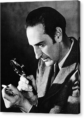 Basil Rathbone In Sherlock Holmes And The Voice Of Terror  Canvas Print by Silver Screen