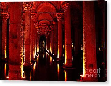 Basilica Cistern Canvas Print by Emily Kay