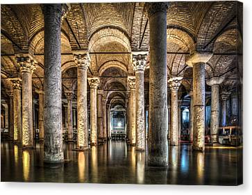 Basilica Cistern Istanbul Turkey Canvas Print by Marc Garrido