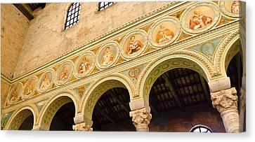 Basilica Di Sant' Apollinare Nuovo - Ravenna Italy Canvas Print by Jon Berghoff