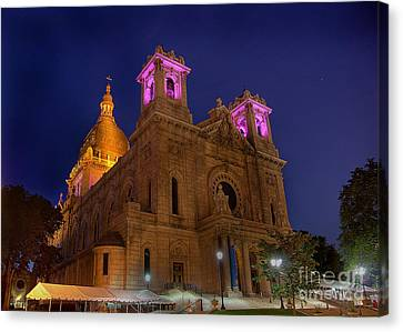 Basilica Of Saint Mary Minneapolis Canvas Print by Wayne Moran