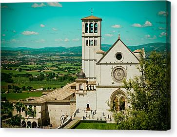 Basilica Of San Francesco Assisi  Canvas Print by Raimond Klavins