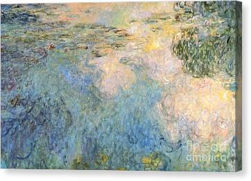 Basin Of Water Lilies Canvas Print by Claude Monet