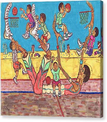 Basketball Daycare Canvas Print by Richard Hockett