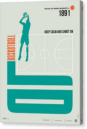 Basketball Poster Canvas Print by Naxart Studio