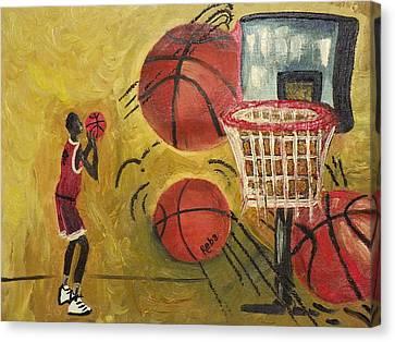 Basketball Canvas Print by Reba Baptist