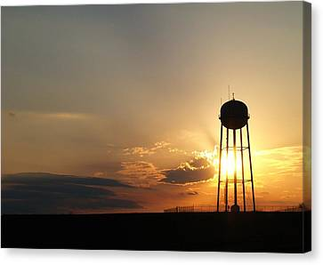 Basking Water Tower Canvas Print by Ransom Williams