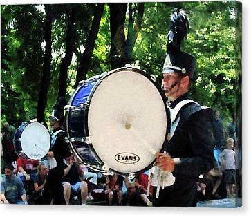 Bass Drums On Parade Canvas Print by Susan Savad