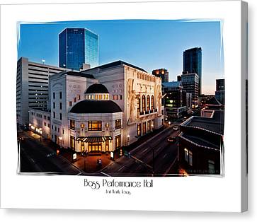 Bass Performance Hall Canvas Print by Robin Weerts