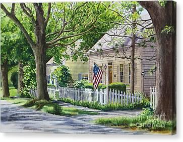 Bass River Homes Canvas Print by Karol Wyckoff