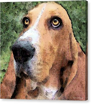 Basset Hound - Irresistible  Canvas Print by Sharon Cummings