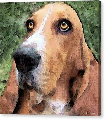 Basset Hound - Irresistible  Canvas Print by Sharon Cummings