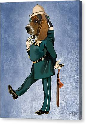 Basset Hound Policeman Canvas Print by Kelly McLaughlan