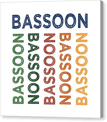 Bassoon Cute Colorful Canvas Print by Flo Karp