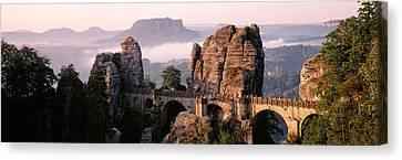 Bastei, Saxonian Switzerland National Canvas Print by Panoramic Images