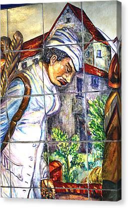 Bastille Metro No 3 Canvas Print by A Morddel