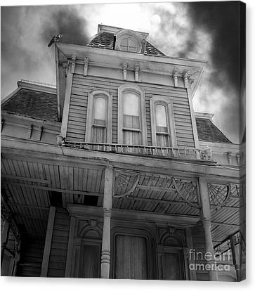 Bates Motel 5d28867 Square Black And White Canvas Print by Wingsdomain Art and Photography