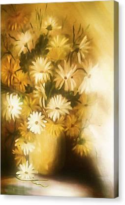 Bathed In White Light Canvas Print by Georgiana Romanovna