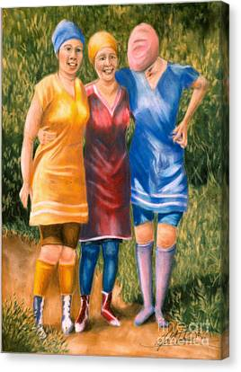 Bathing Beauties Canvas Print by Leah Wiedemer