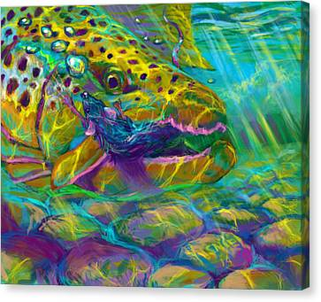 Bathing The Mouse  Canvas Print by Yusniel Santos