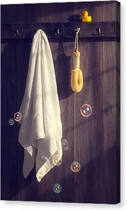 Bathroom Towel Canvas Print by Amanda And Christopher Elwell